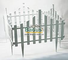 Забор для газона пластиковый 4 секции белый Алеана ALN-114042-2
