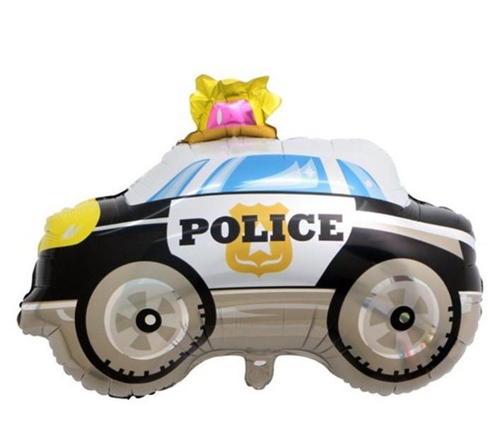 """Шар фольгированный фигурный """"Машина Полиция"""" Размер:74см*60см."""