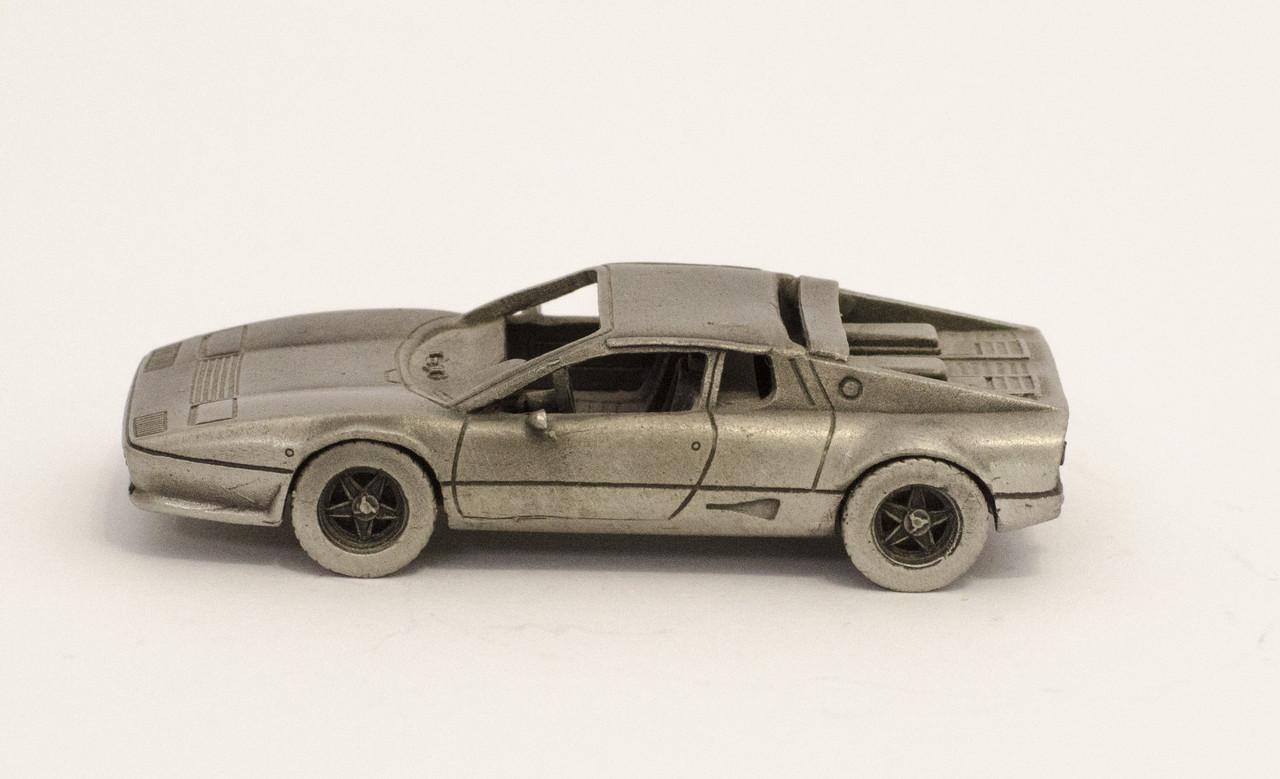 Модель автомобіля, Ferrari 512BB, мініатюра, олово, Franklin Mint, Малайзія