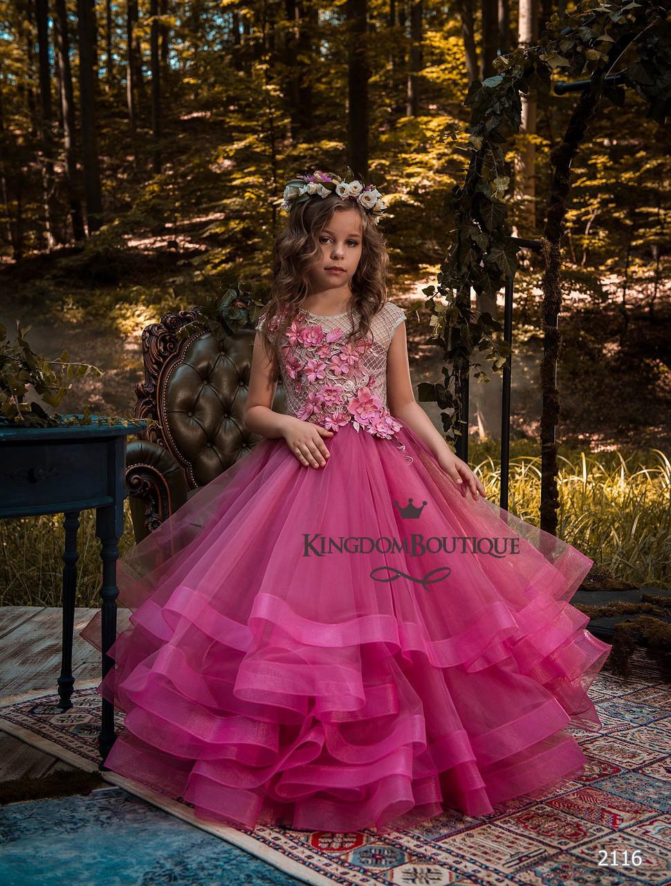 Платье детское яркое длинное вечернее. Пошив под заказ
