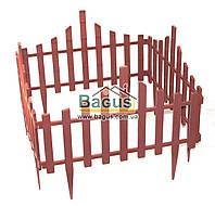 Забор для газона пластиковый 4 секции терракотовый Алеана ALN-114042-4