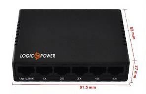 Комутатор 5 портовий LogicPower LP-S505.