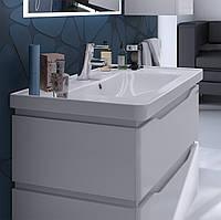 Тумба для ванной Алесса Air с умывальником белая