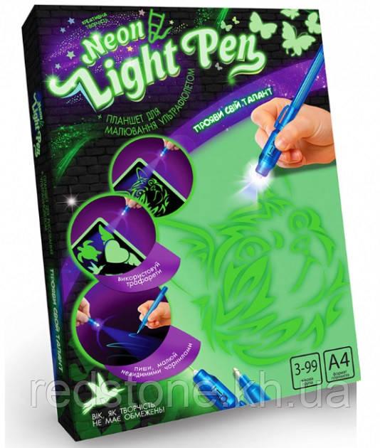 Рисуем светом А4 Neon Light Pen (планшет, ручка , трафареты)