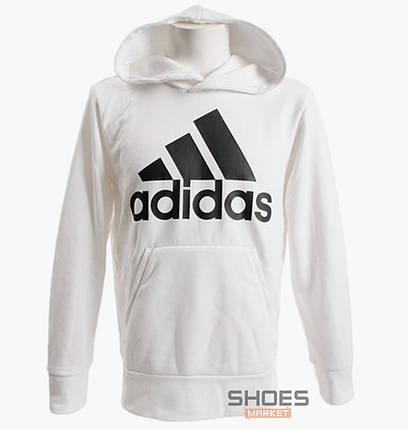 Толстовка Adidas White/Black CZ7526, оригинал, фото 2