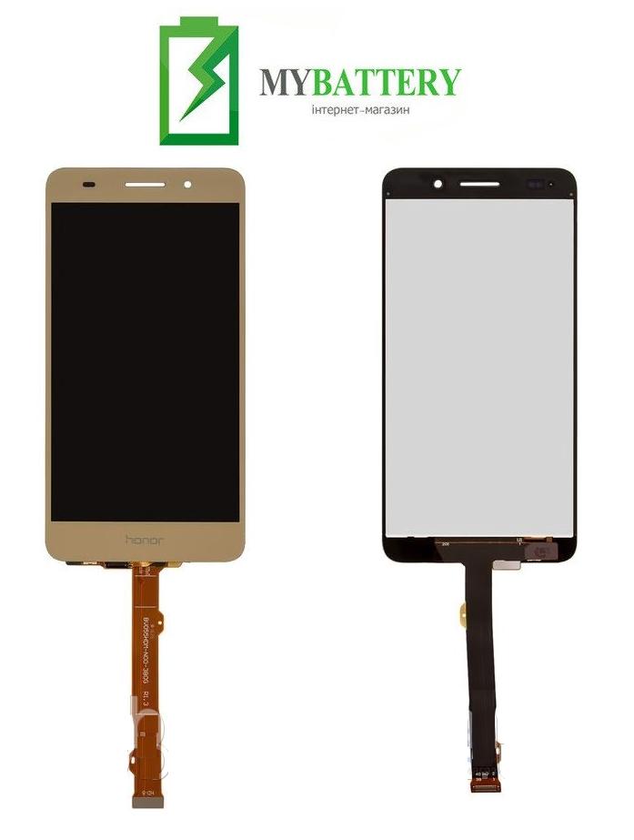Дисплей (LCD) Huawei Y6 II (CAM-L21)/Honor 5A (CAM-AL00) с сенсором золотой
