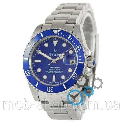 Наручные часы Rolex Submariner AAA Date Silver-Blue