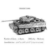 Металлический конструктор! Немецкий Танк Тигр 3D пазл!