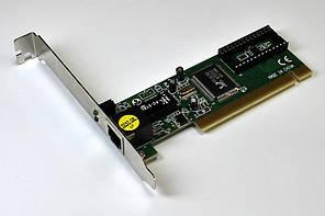 Мережевий адаптер внутрішній LogicPower (LP-8139D) 10/100 Mb/s, PCI 2.2, 32 біт, Realtek RTL8139D, OEM