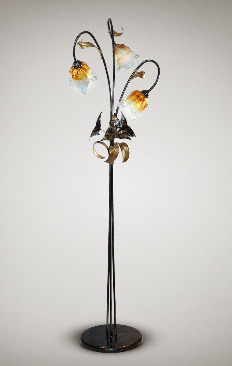 Торшер в стиле флористика 3-х ламповый 17230