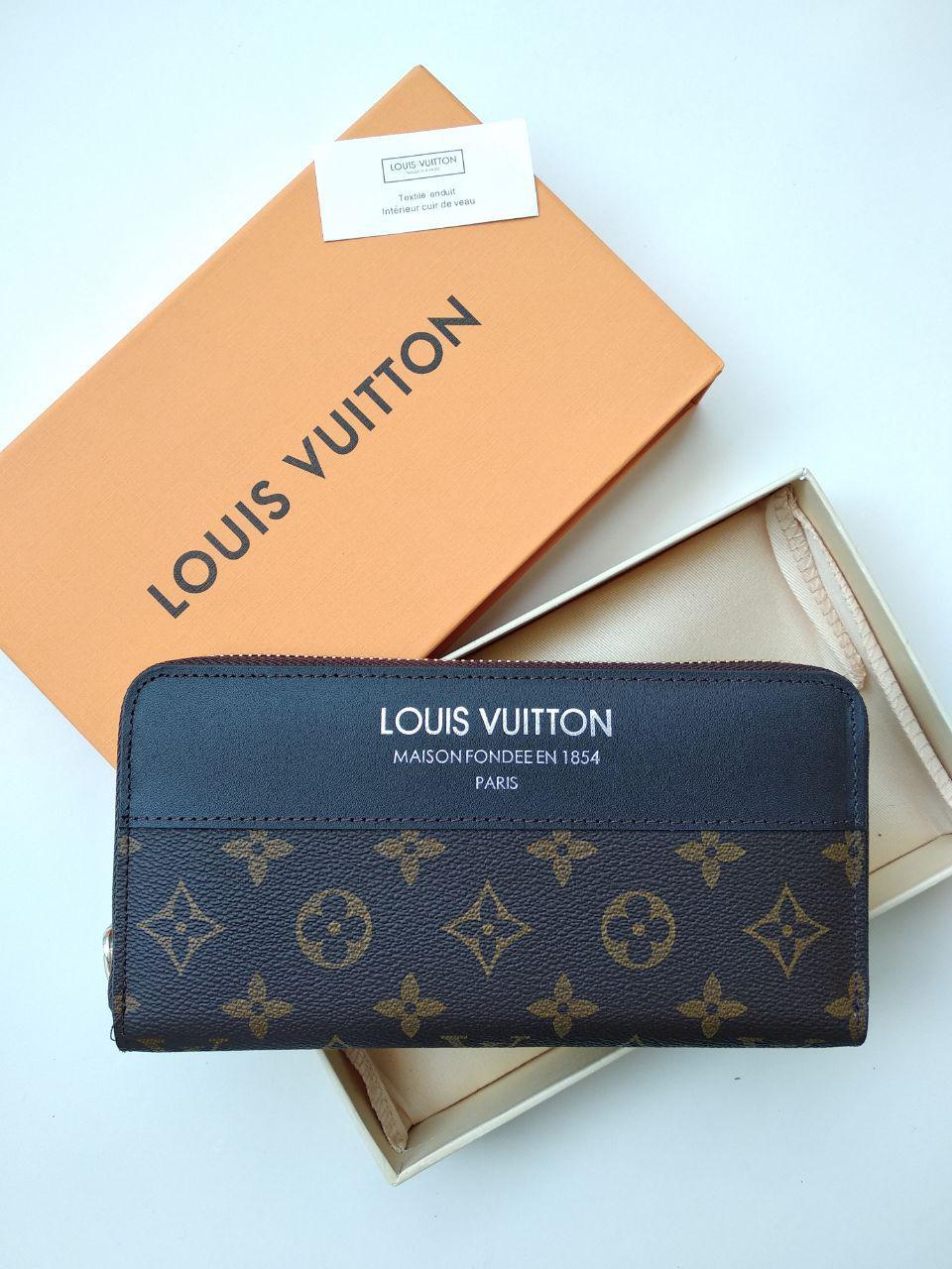 Кошелек Louis Vuitton, кожа, монограмм