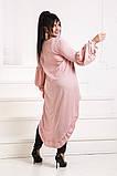 Нарядная женская туника асимметричного кроя 3 расцв. 42-56р., фото 5