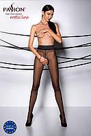 Сексуальные колготы черные с вырезом TIOPEN 001 nero (20 den)