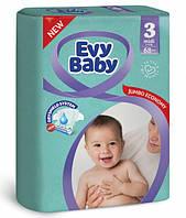 Подгузники детские Evy Baby Midi (3) от 5-9 кг 68шт (8690506411985)