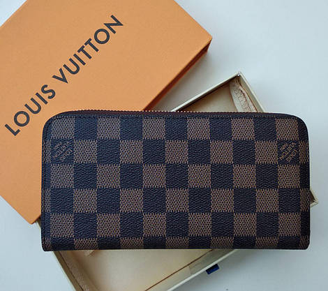 Кошелек Louis Vuitton, кожа, коричневая шахматка, фото 2