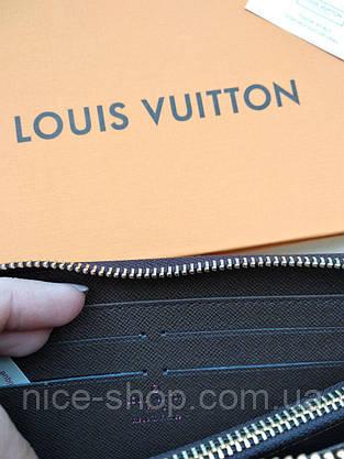 Кошелек Louis Vuitton, кожа, коричневая шахматка, фото 3