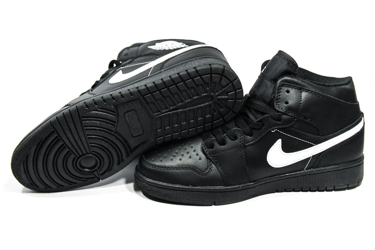 4e68d4b6 Зимние кроссовки (на меху) мужские Nike Air Jordan 1-127 (реплика ...