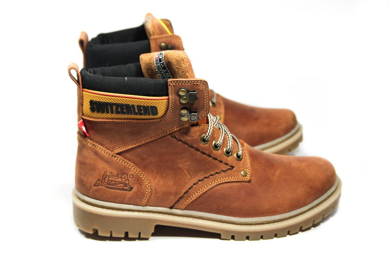 Зимние ботинки (на меху) мужские Switzerlend (реплика) 13025