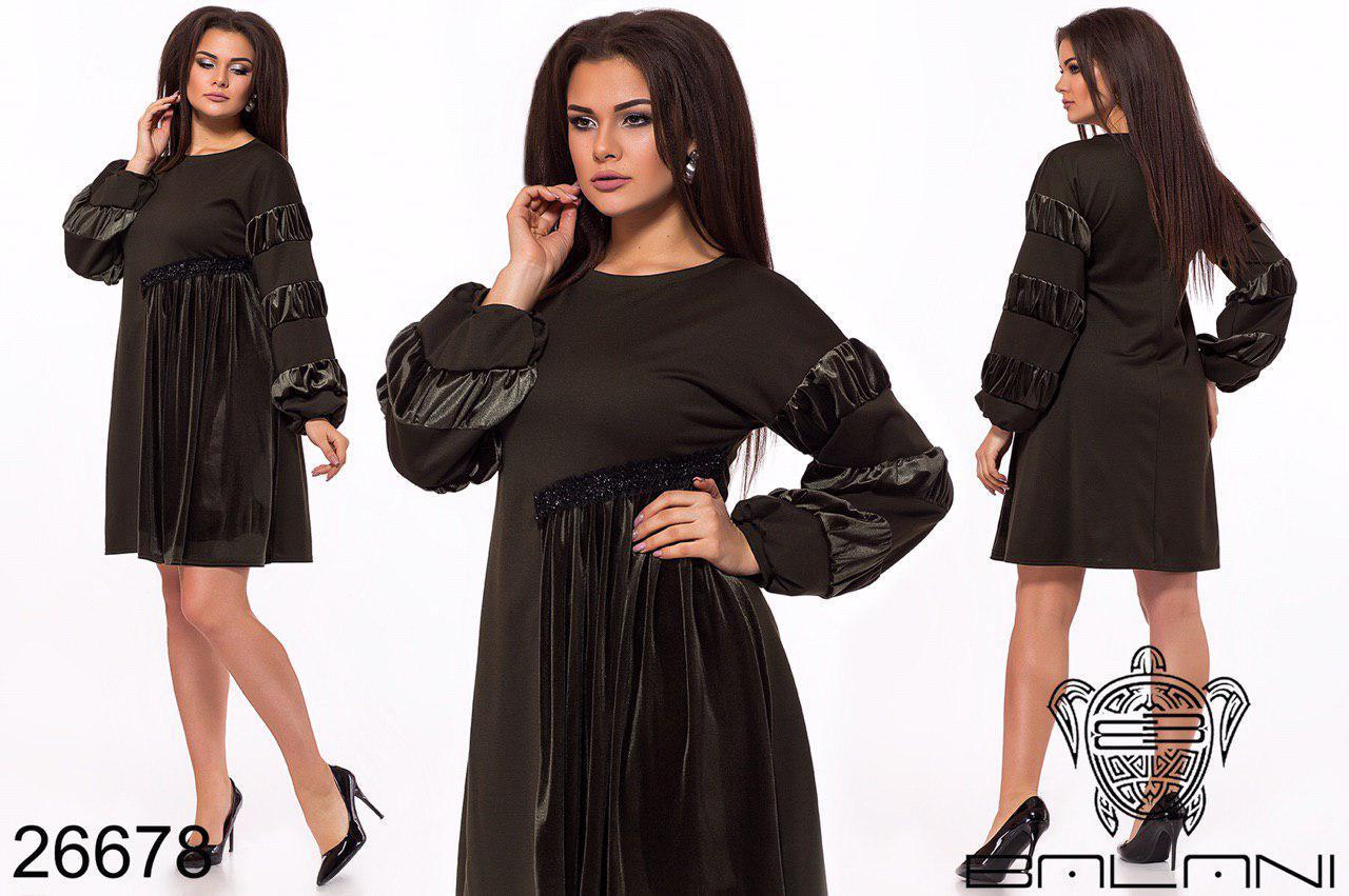 Женское стильное платье  ОКа256 (бат)