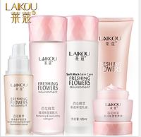 Набор Laikou Freshing Flowers(с цветком лотоса) в отдельных коробках 5 средств , фото 1