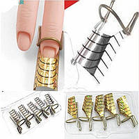 Формы для наращивания ногтей нижние многоразовые, 5 штук в упаковке, фото 1