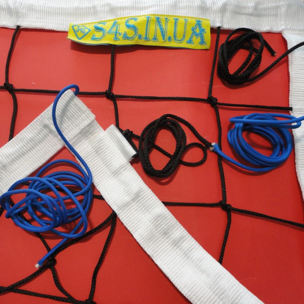 Сетка для классического волейбола «ЭЛИТ 15 НОРМА» черно-белая