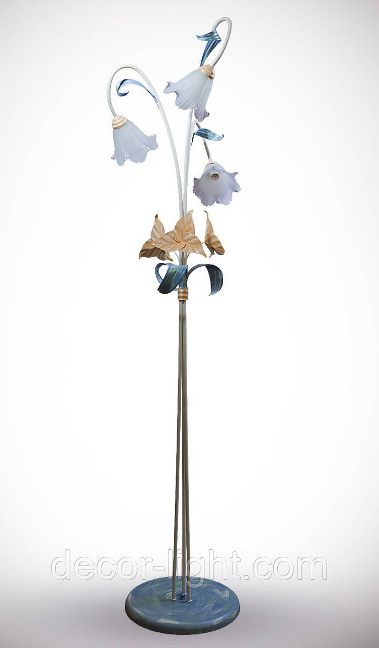 Торшер в стиле флористика 3-х ламповый  17230_1