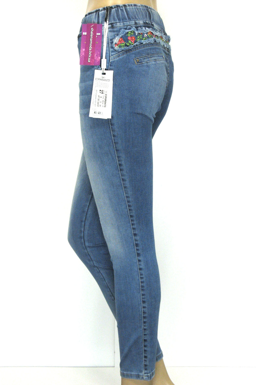 Жіночі джинси на резинці розпродаж