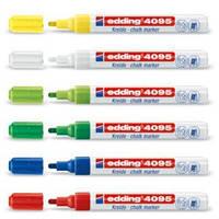 Маркер меловой Edding 4095, 2-3мм., флуоресцентный, жёлтый