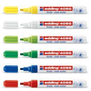 Маркер меловой Edding E-4095, 2-3мм., зелёный