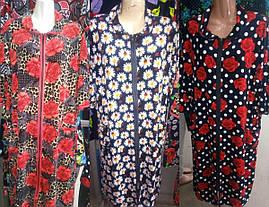 Красивый велюровый халат большого размера 48-64 р-ра, фото 3