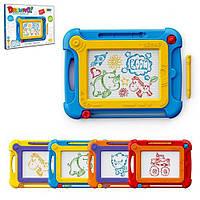 Дощечка для малювання 8266A кольорова, 24 см., ручка, 4 кольори, кор., 25-19-2,5 см.