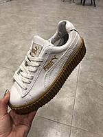Puma Rihanna Creepers кожаные белого оттенка все размеры