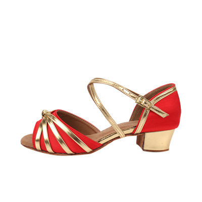 Туфли бальные блок каблук