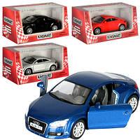 Машинка KT 5335 W інерц., мет., 1:32, гум. колеса, відчин. двері, 4 кольори, кор., 16-7,5-8 см.