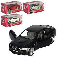 Машинка KT 5348 W мет., інерц., відчин. двері, гумові колеса, 4  кольори, кор., 16-7-8 см.