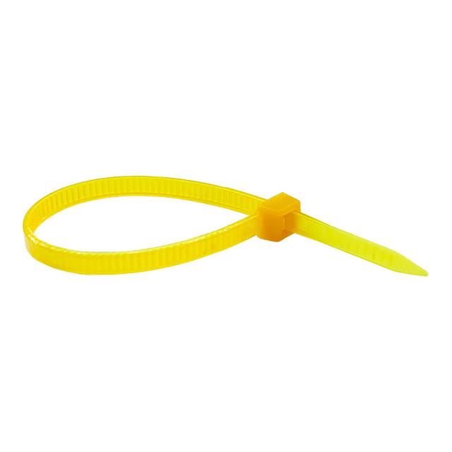 Кабельна стяжка (хомут) 400*8 жовта (внутр. уп. 100шт) ТМ СПЕКТР LUX