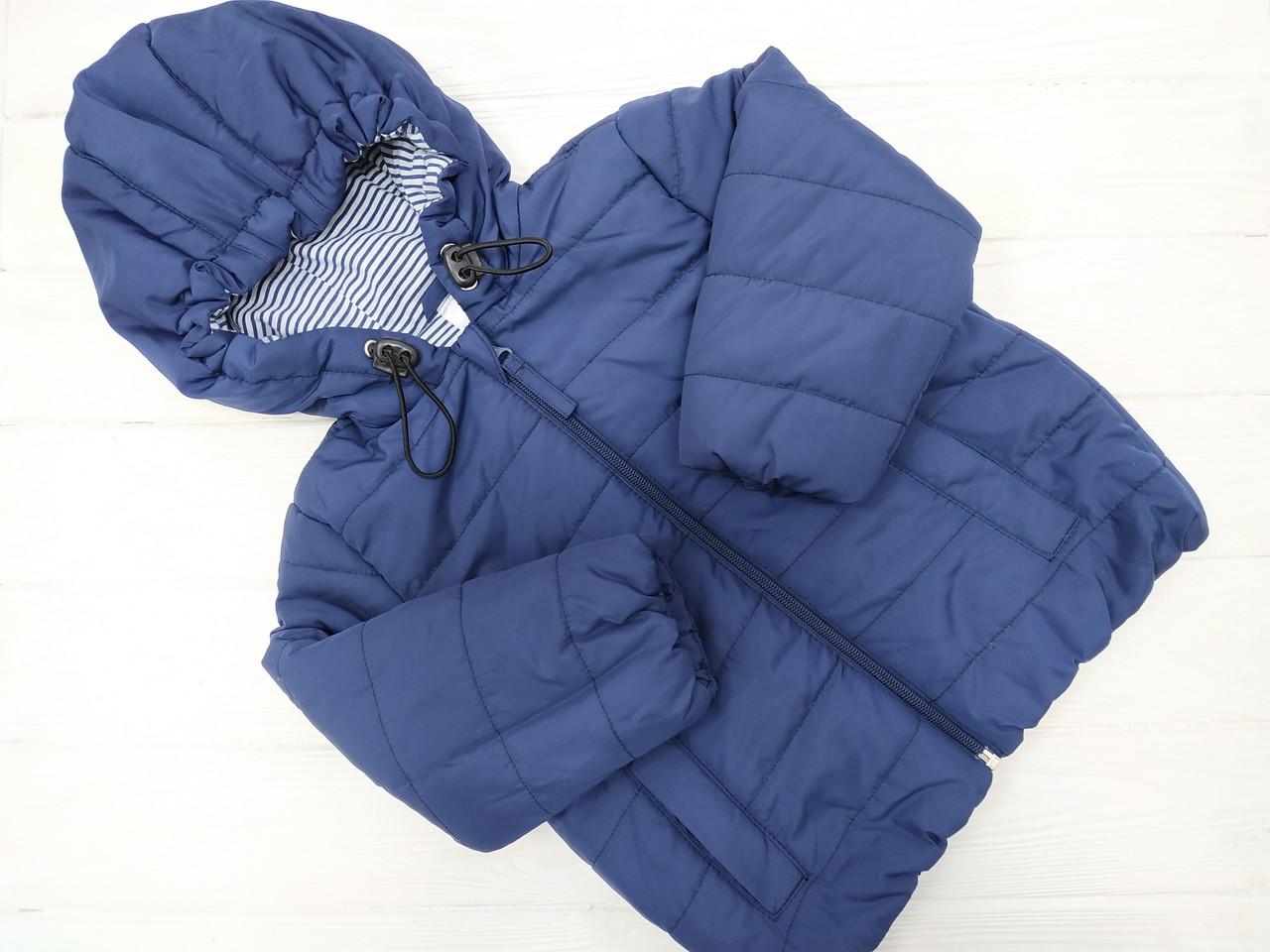Курточка  демисезонная для мальчика  Синяя