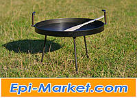 Сковорода для пикника 40 см с крышкой из диска  + ПОДАРОК ЛОПАТКА