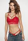 Гипюровый комплект нижнего белья, красный, 44-46, фото 4