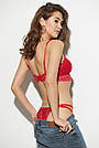 Гіпюровий комплект нижньої білизни, червоний, 44-46, фото 6