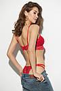 Гипюровый комплект нижнего белья, красный, 44-46, фото 6