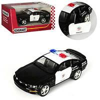 Машинка KT 5091 WP мет., інерц., поліція, гумові колеса, відчин. двері, кор., 16-7,5-8 см.
