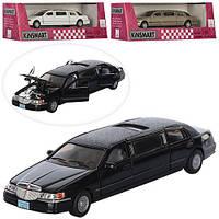 Машинка KT 7001 W мет., інерц., 1:38, гумові колеса, відчин. двері, 3 кольори, кор., 23-7,5-7,5 см.