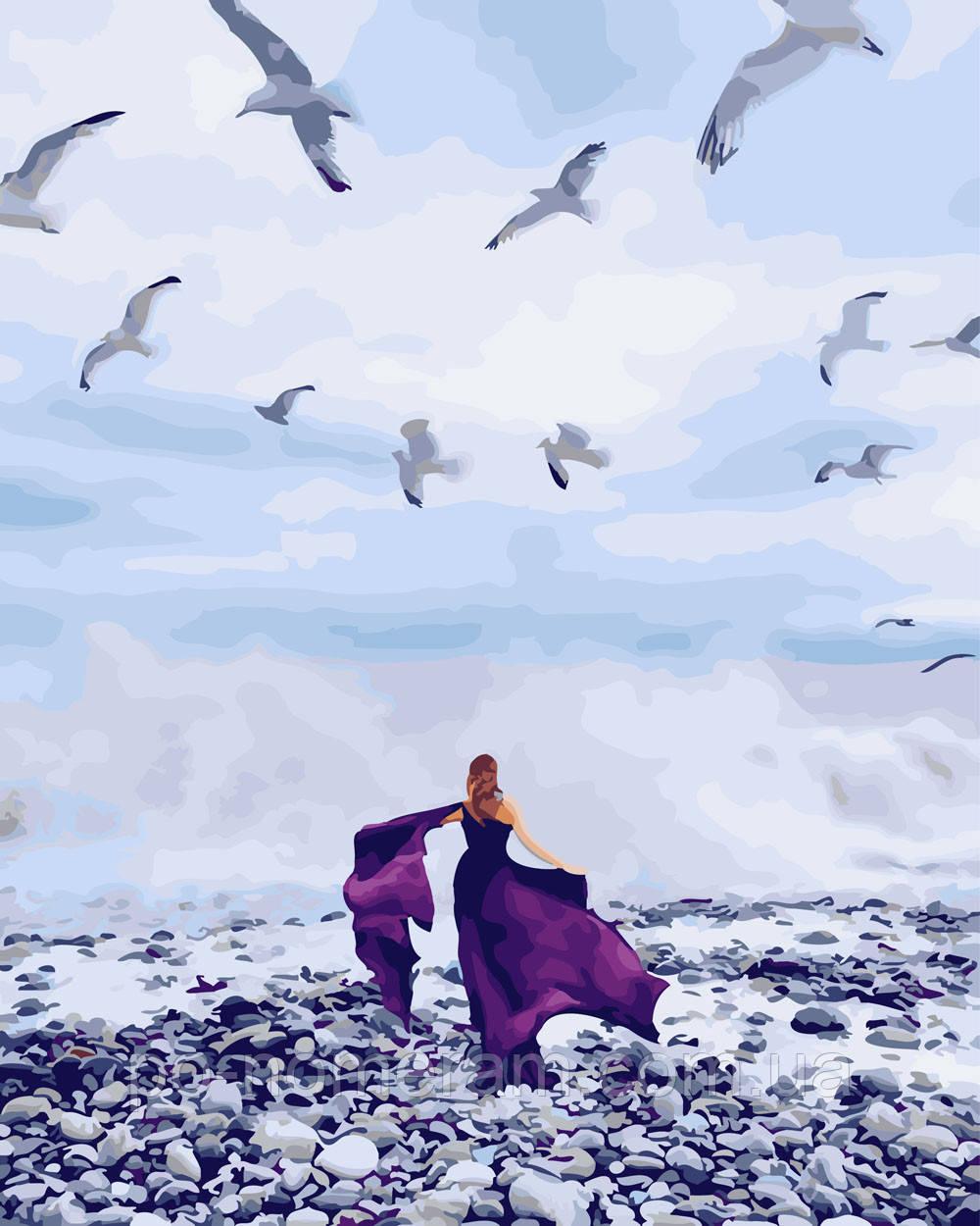 Раскраска по цифрам В фиолетовом платье (BK-GX26309) 40 х ...
