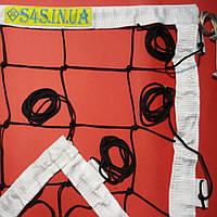 Сетка для классического волейбола «ЭЛИТ 15 НОРМА» с тросом черно-белая, фото 1