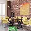 Стол обеденный Астон. Размер 1600х800х750. Металл Дизайн