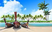 Скинали Море Пляж Каное - стекло с фотопечатью