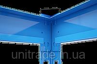 215х160х40, Стеллаж 5 полок ДСП 300 кг на полку полочный оцинкованный металлический на склад гараж подвал архив, фото 4