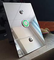 Пост вызова КВ110д(нержавейка, кнопка с кольцевой подсветкой, d=19мм)